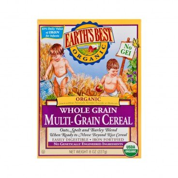 EARTH'S BEST Organic Whole Grain Multi grain Cereal 227G