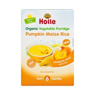 HOLLE - Organic Vegetable Porridge Pumpkin Maize Rice - 175G