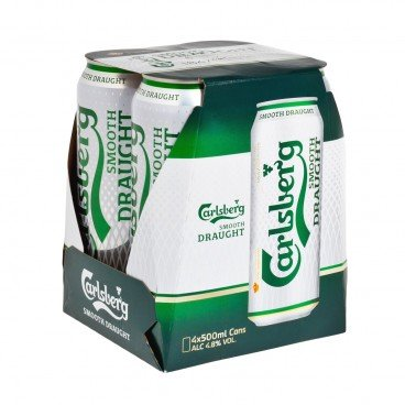 CARLSBERG - Smooth Draught 4 King Can - 500MLX4