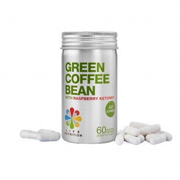 LIFE NUTRITION - Green Coffee Bean With Raspberry Ketones - 60'S