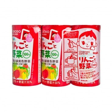 WAKODO - Genkicchi Apple Vegetable - 125MLX3