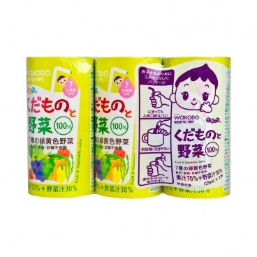 WAKODO - Genkicchi Fruit Vegetable - 125MLX3