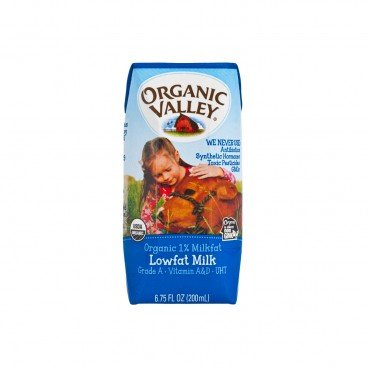 ORGANIC VALLEY - Organic 1 Milkfat Lowfat Milk - 200ML