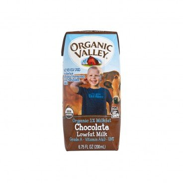 ORGANIC VALLEY - Organic 1 Milkfat Chocolate Lowfat Milk - 200ML