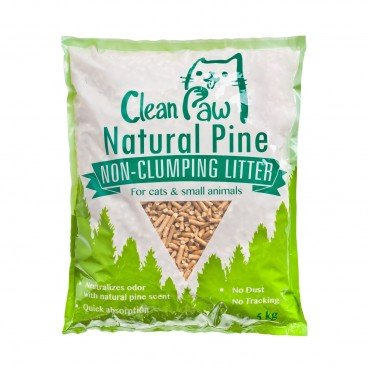 CLEAN PAW Natural Pine Non clumping Litter 5KG
