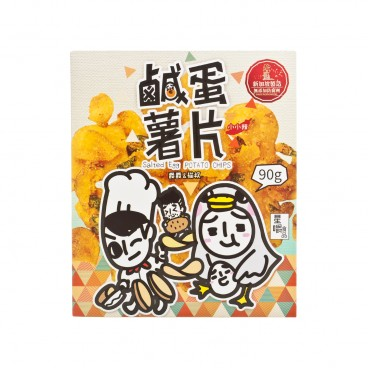 STAR CHEW - Salted Egg Potato Crisps - 90G