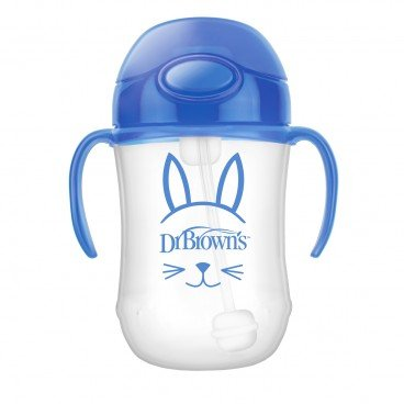 DR. BROWN'S - 9 oz Babys First Straw Cup W Handles blue - PC