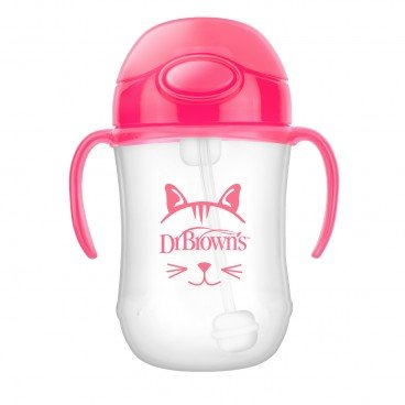 9OZ BABY'S FIRST STRAW CUP W/ HANDLES-PINK
