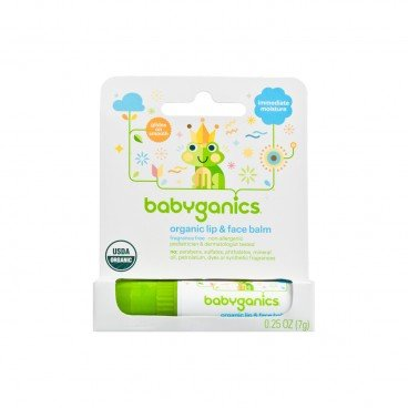 BABYGANICS Moisturizing Lip Face Balm fragrance Free PC