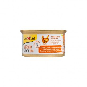 GIMCAT Shinycat Superfood Duo Chicken Fillet With Carrots 70G