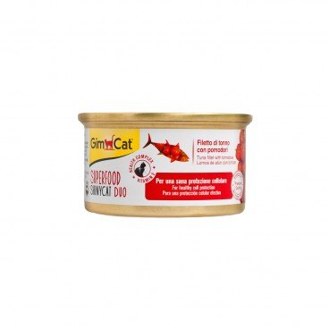GIMCAT Shinycat Superfood Duo Tuna Fillet With Tomatoes 70G