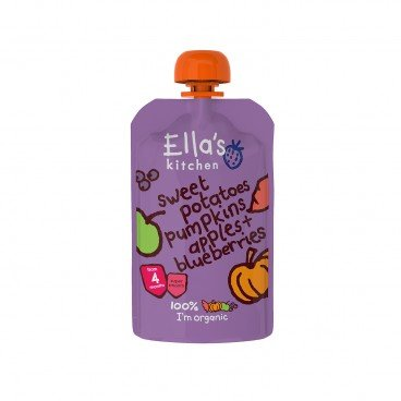 ELLA'S KITCHEN - Sweet Potato Pumpkin Apples Blueberries - 120G