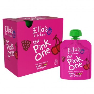 ELLA'S KITCHEN - The Pink One Smoothie Multi Fruit Packs - 90GX5