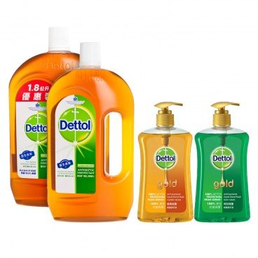 DETTOL Antiseptic Liquid Pack With Gold Handwash random One SET