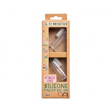 JACK N' JILL Silicone Finger Brush 2'S