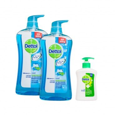 DETTOL - Body Wash cool twinpack With Premium - SET