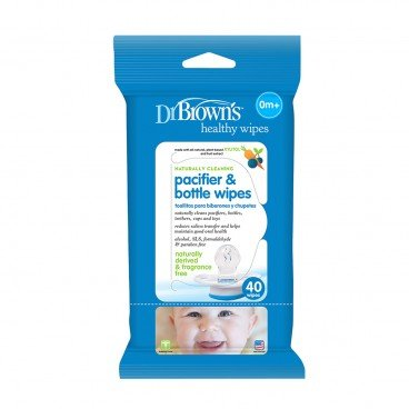 DR. BROWN'S Cleaning Wipes pacifier Bottle 40'S