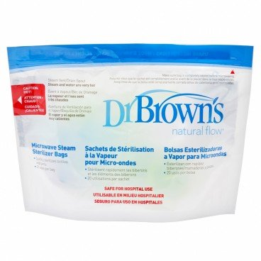 DR. BROWN'S - Microwave Steam Sterilizer Bags - 5'S