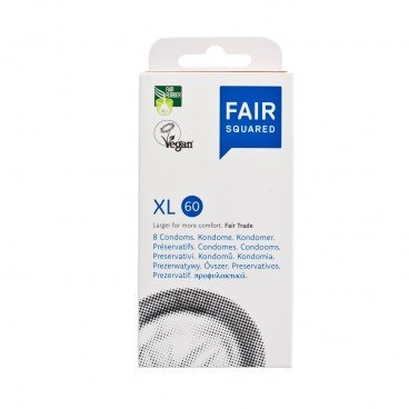 FAIR SQUARED Fair Trade Vegan Condom extra Large 8'S