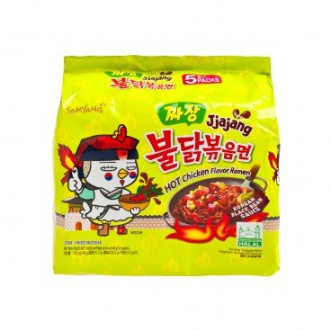 SPICY CHICKEN FLAVOR JJAJANG RAMEN (KOREA VERSION 4+1 PACKS)