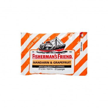 FISHERMAN'S FRIEND - Sugar Free Mandarin Lozenges - 25G