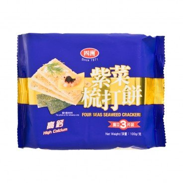 FOUR SEAS Seaweed Crackers 100G