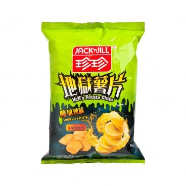 JACK'N JILL Potato Chips hells Sour Spicy Flavour 60G