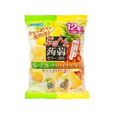 ORIHIRO Yuzu  Pineapple Flavoured Jelly 240G