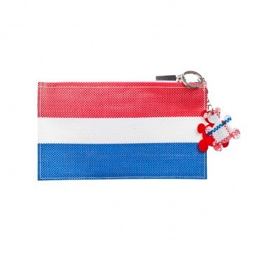 RED WHITE BLUE 330 Flat Pouch With Key Chain PC