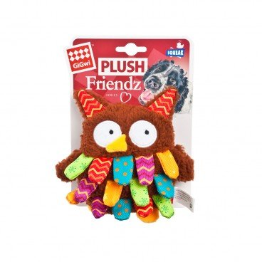 GIGWI Plush Friendz owl PC