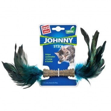 GIGWI Johnny Stick w double Side Natural Feather PC