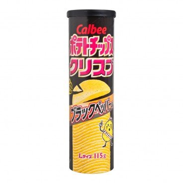 CALBEE Potato Chips black Pepper 115G