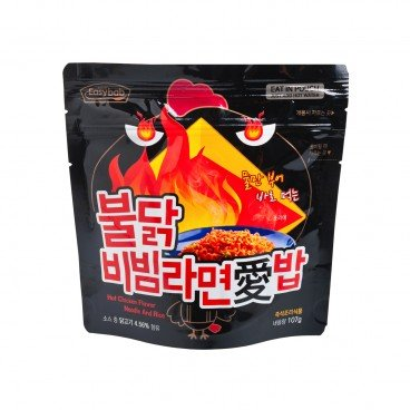 JJAMPPONG INSTANT NOODLE WITH PUFFED RICE-HOT CHICKEN