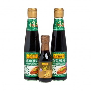 LEE KUM KEE Seasoned Soy Sauce gold Soy Sauce 410MLX2+150ML