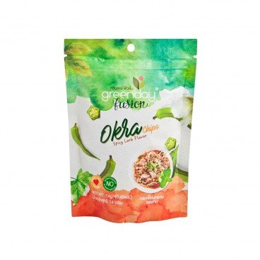 GREENDAY Okra Chips spicy Larb Flavor 14G