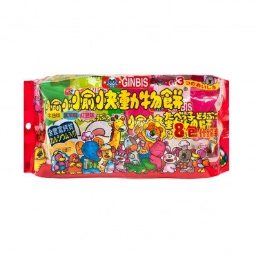 GINBIS - Animal Biscuit mixed Flavored - 144G