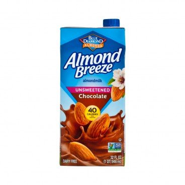 BLUE DIAMOND Almond Breeze Unsweetened chocolate 946ML