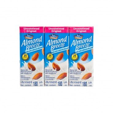 BLUE DIAMOND Almond Breeze Unsweetened original 180MLX3