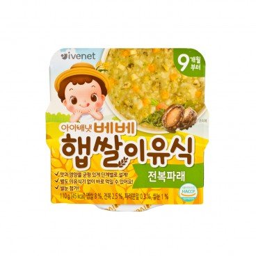 IVENET Bebe New Rice Weaning Food abalone Green Laver 110G