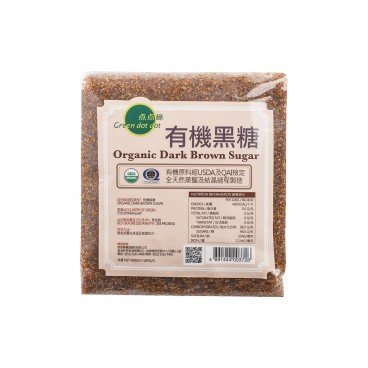 GREEN DOT DOT Organic Dark Brown Sugar 500G