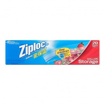 ZIPLOC Storage Bag gallon 20'S