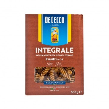 DE CECCO Whole Wheat Fusilli 500G