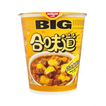 NISSIN - Big Cup Noodle cheese Curry Flavor - 113G