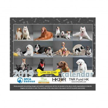 CHARITY-LOVE OUR DOGS Love Our Dogs 2019 Charity Calendar PC