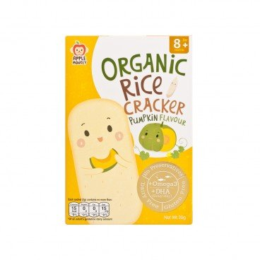 ORGANIC DHA RICE CRACKER-PUMPKIN