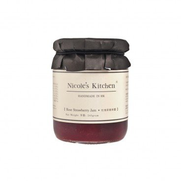 NICOLE'S KITCHEN Rose Strawberry Jam 245G