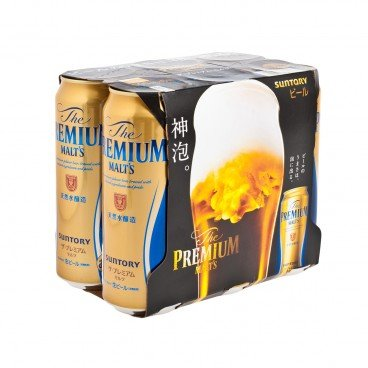 SUNTORY - The Premium Malts - 500MLX6