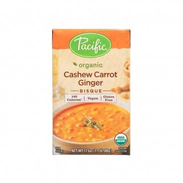 PACIFIC Organic Cashew Carrot Ginger Bisque 17.6OZ