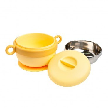 STAINLESS STEEL BABY BOWL-YELLOW