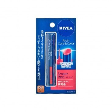 NIVEA Rich And Hydrating Lip Balm sheer Red PC